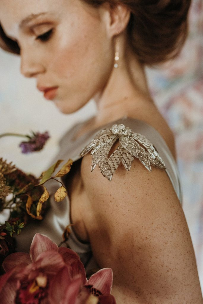Botanical art nouveau bridal shoot  - Makeup and Hair by Julia Jeckell. Photography by Mariola Zoladz.