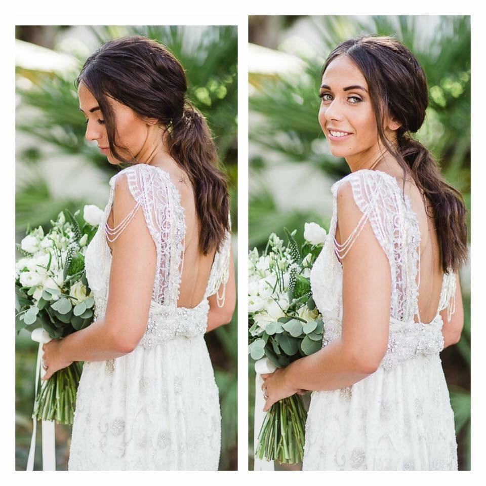 Beautiful bridal ponytail - Hair and Makeup by Ella Megan - Photography by Radka Horvath #modernbride #boho #bridalhair #bridalponytail