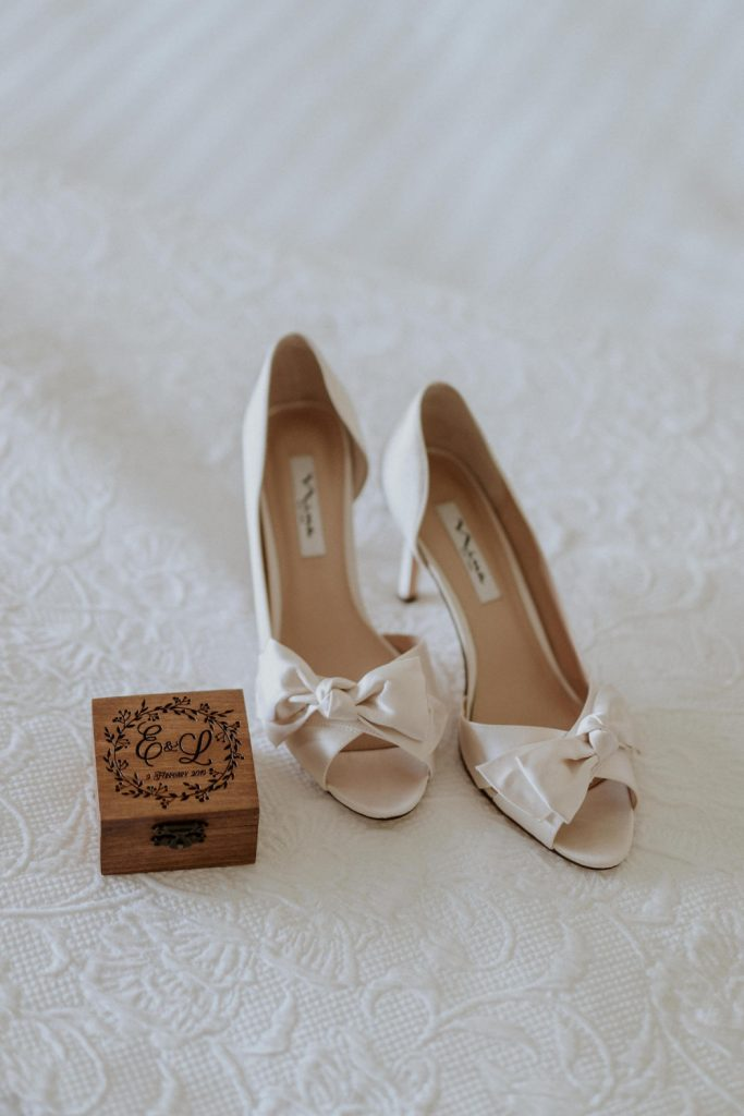 Beautiful wedding shoes.
