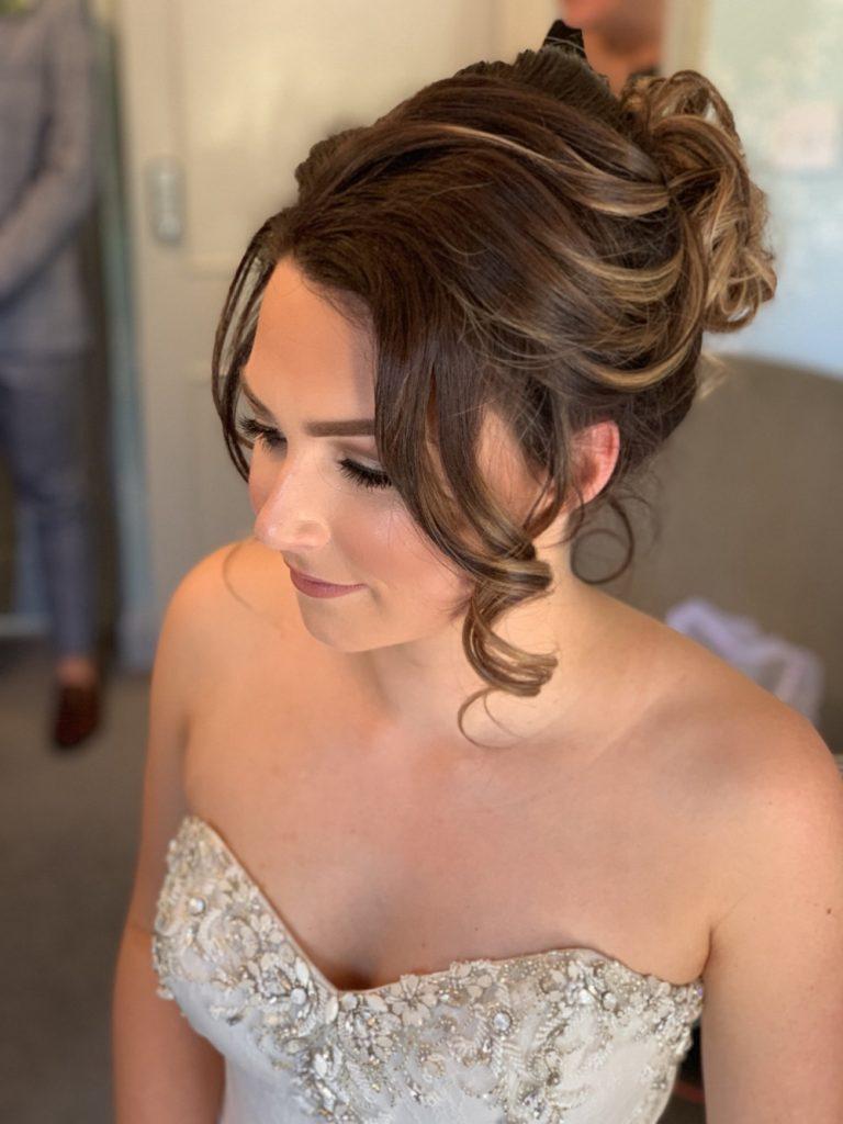 Brides hair and makeup photo