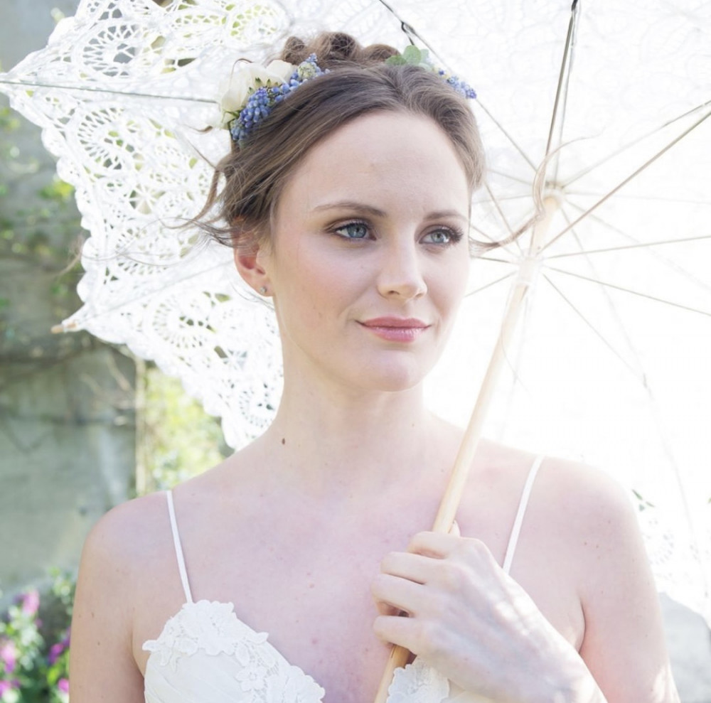Top bridal styling tips for a perfect summer wedding - Hair and Makeup by Arabella Hewitt. Photography by Stacia Morgan Photography. Styling by Emma Hunt London... Dress by Heart A Flutter Bridal. Accessories by V V Rouleaux