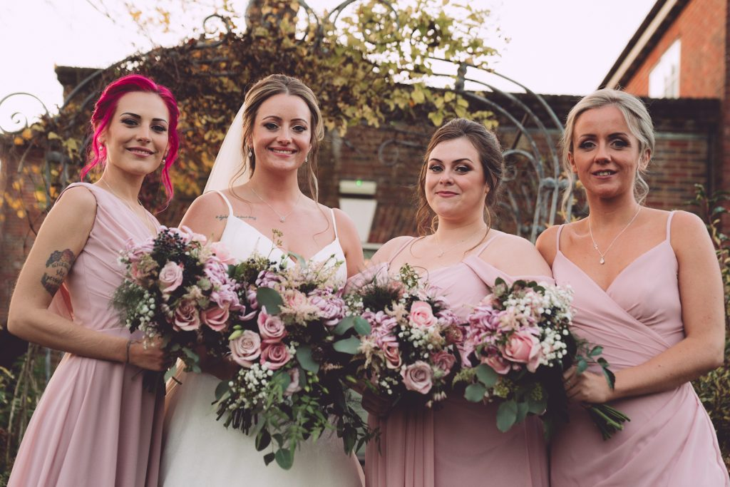 rose-pink-bridesmaid-dresses-updos