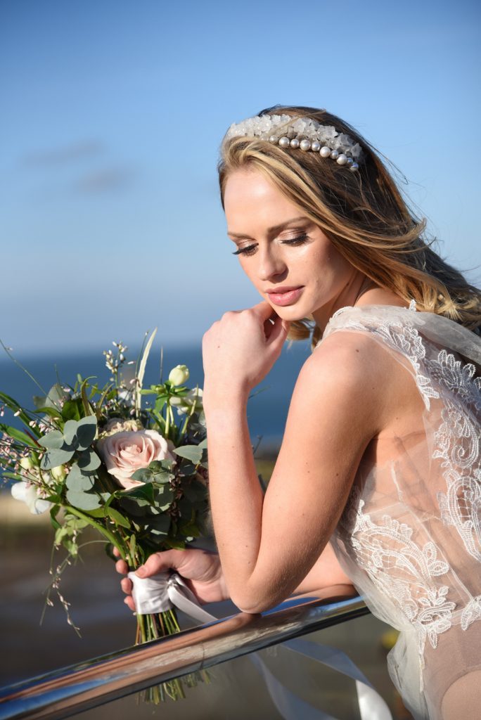 lace-wedding-dress-with-pearl-hair-accessories