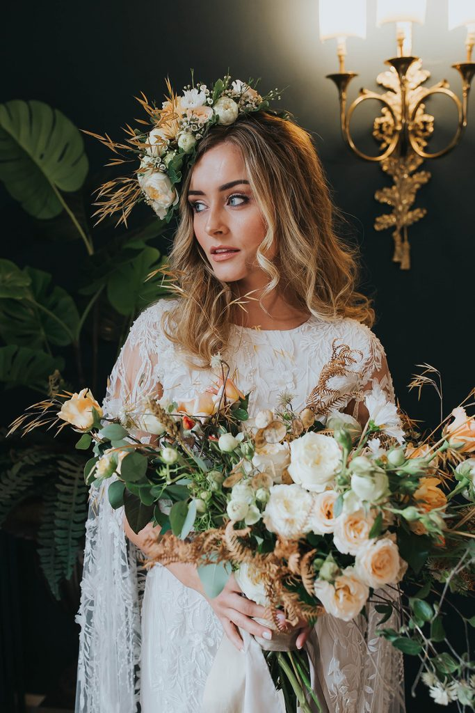bride-with-loose-waves-and-floral-crown