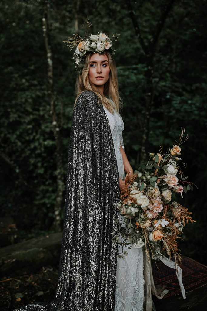 bride-with-silver-sequin-cape