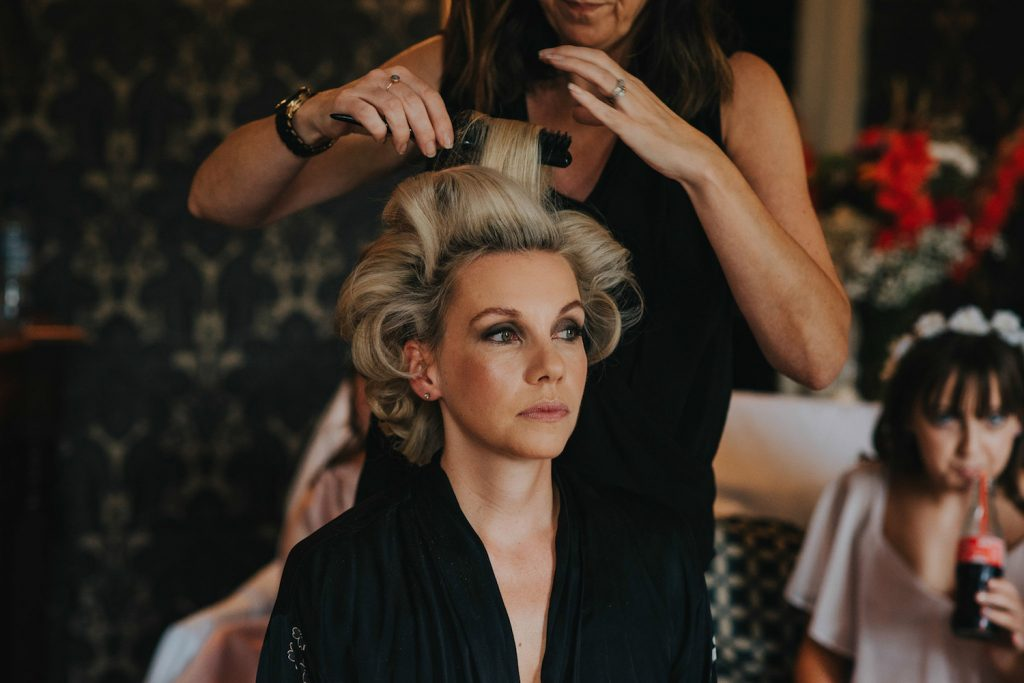 bride-getting-ready-hair-styling