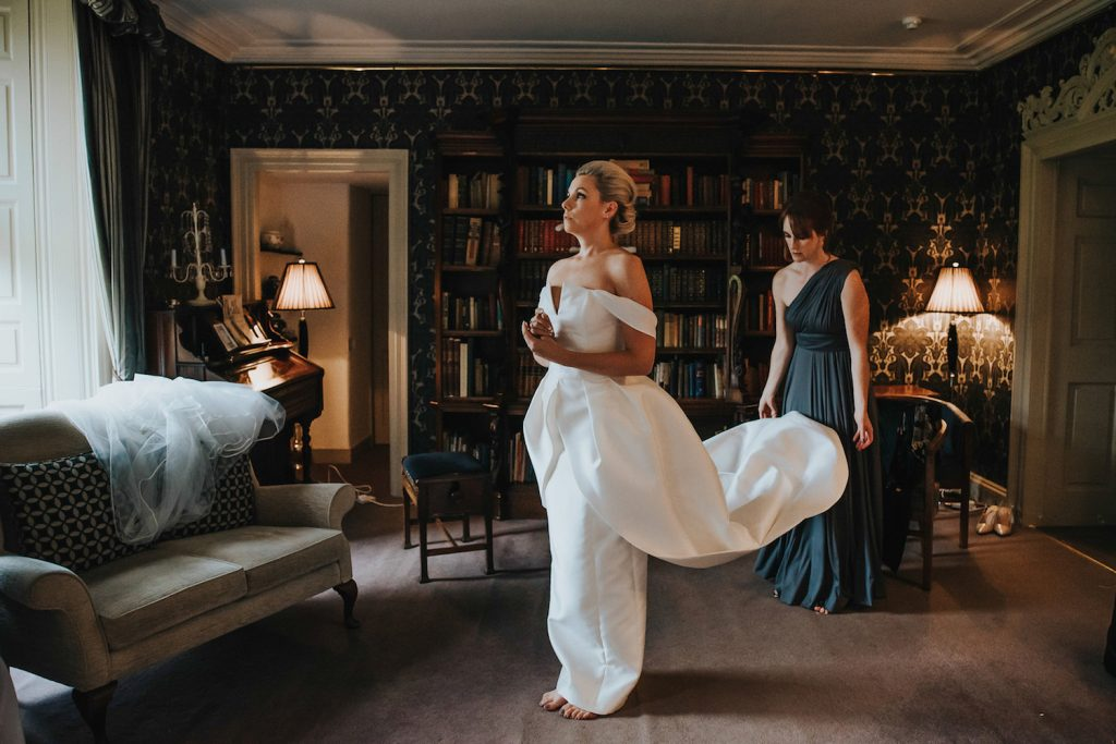 bride-getting-ready-culcreuch-castle