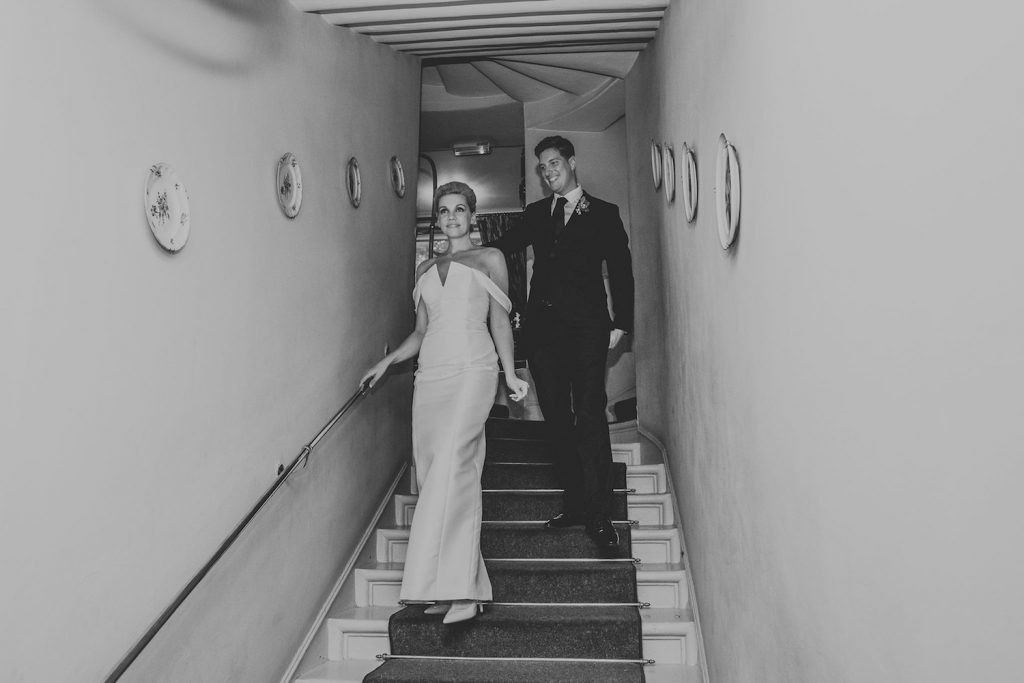 bride-and-groom-arriving-at-reception