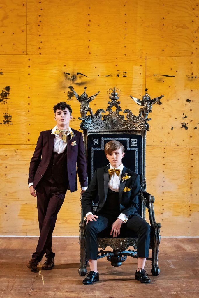 groomsmen-in-black-and-plum-suits