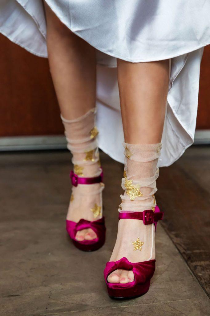 magenta-shoes-for-bride