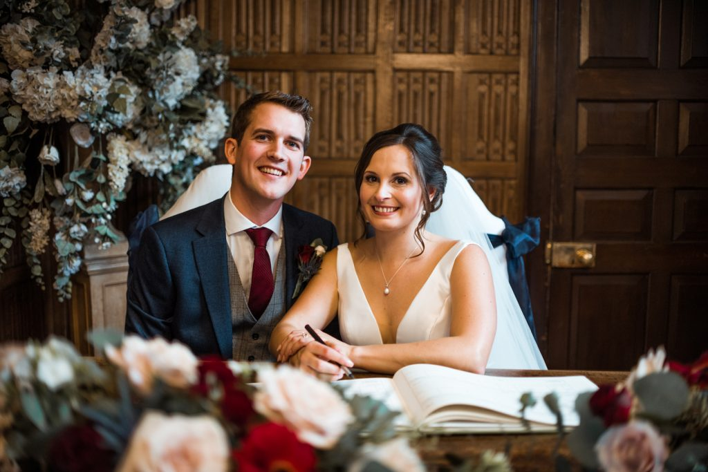 gosfield-hall-wedding-signing-of-the-register