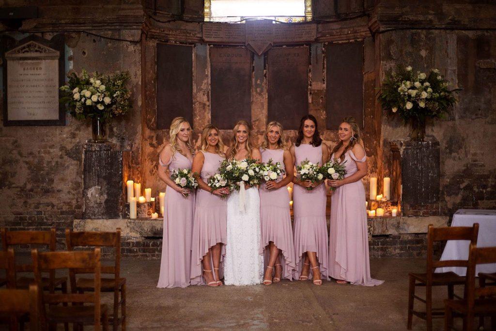 bridesmaids-rose-high-low-dresses