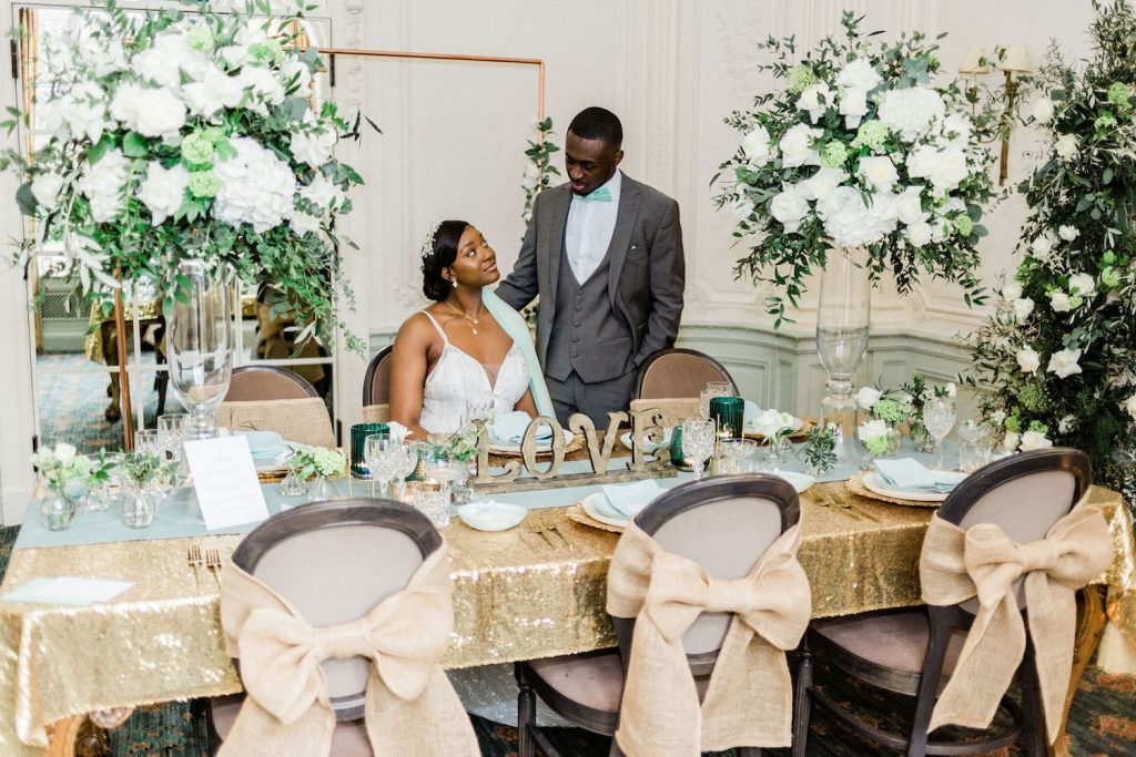 mint-and-gold-wedding-couple