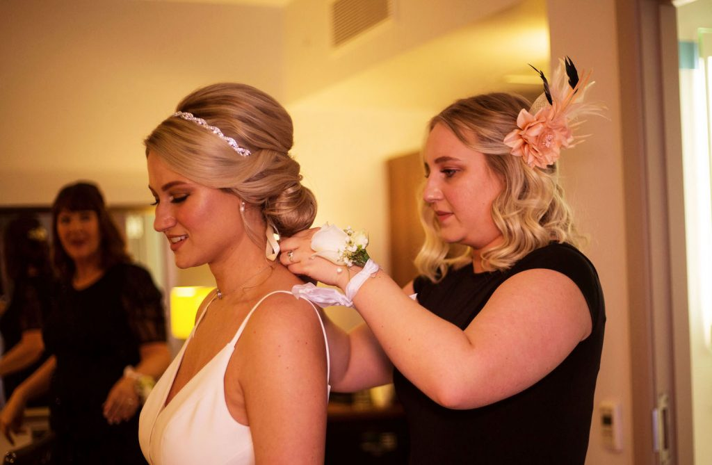 city-bride-with-low-bun-and-crystal-headband
