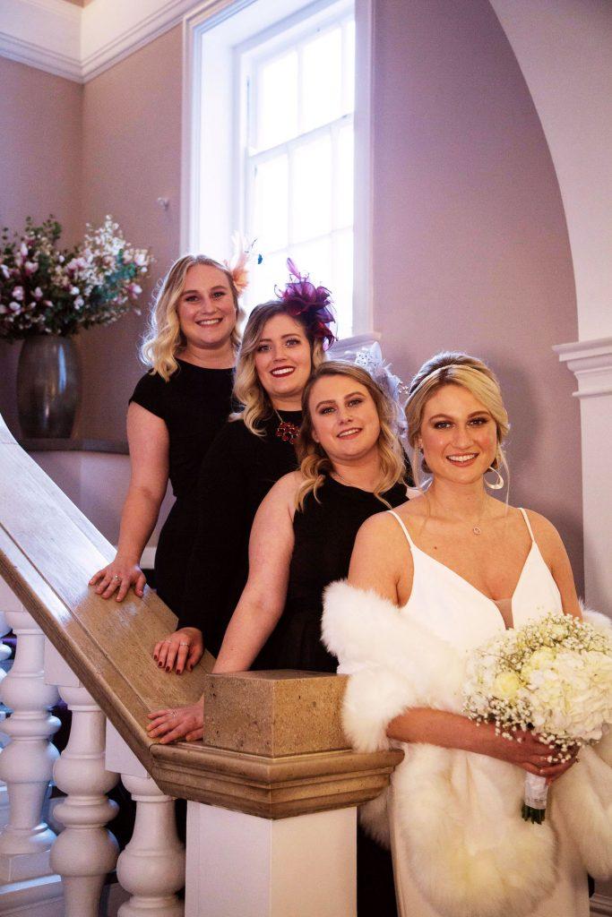 bridesmaids-in-little-black-dresses