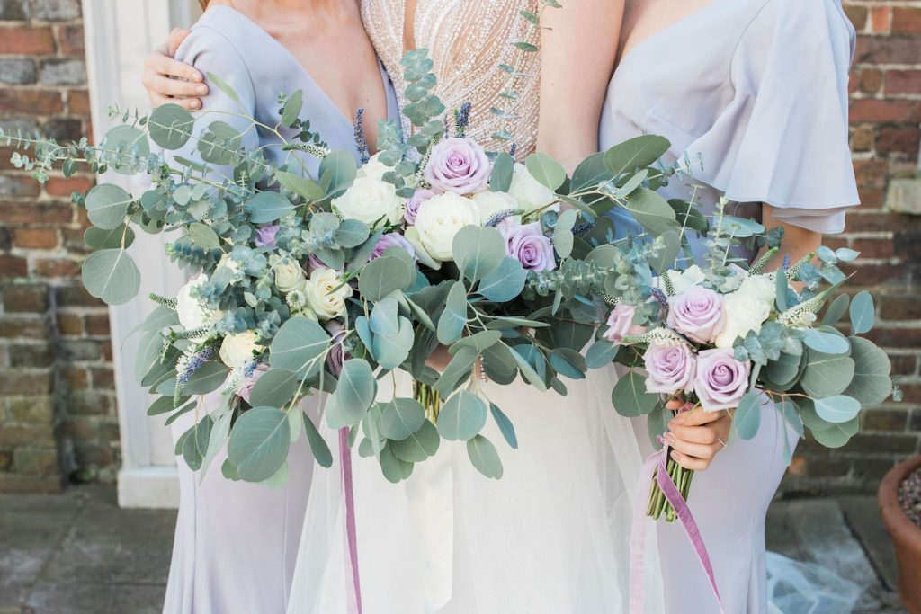 lilac-green-and-white-wedding-bouquets