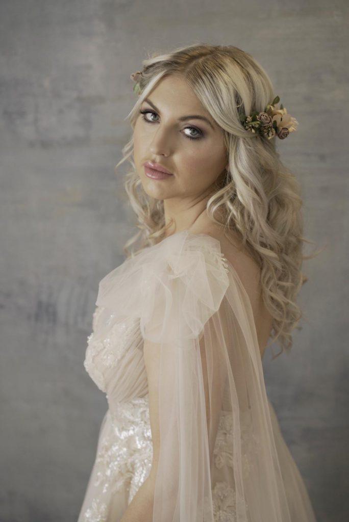 Grecian bridal beauty