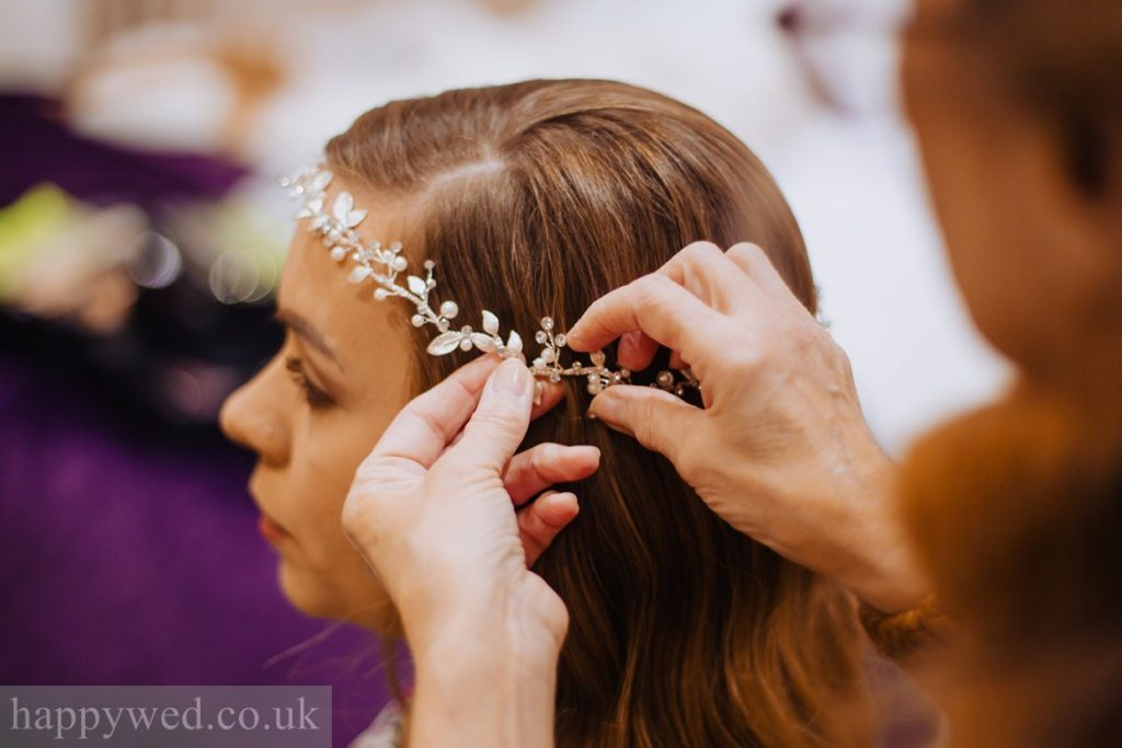 crystal hair vine for boho bride