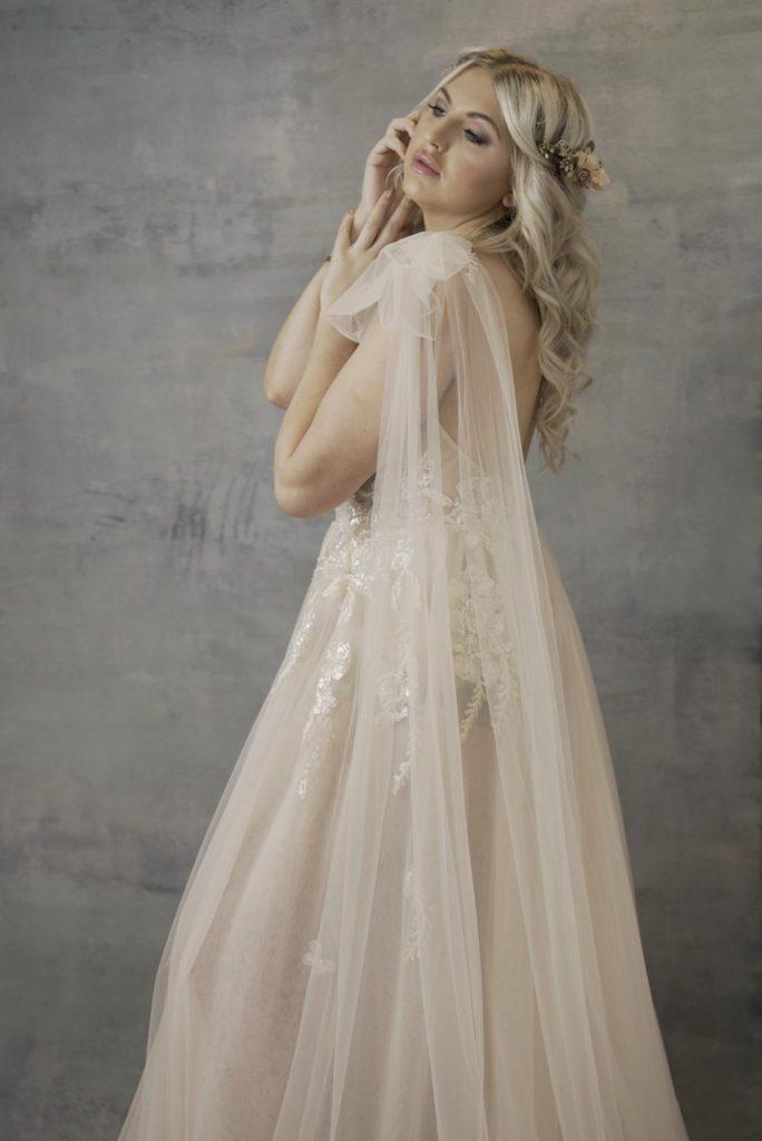 Muse by BERTA wedding dress shoulder detail