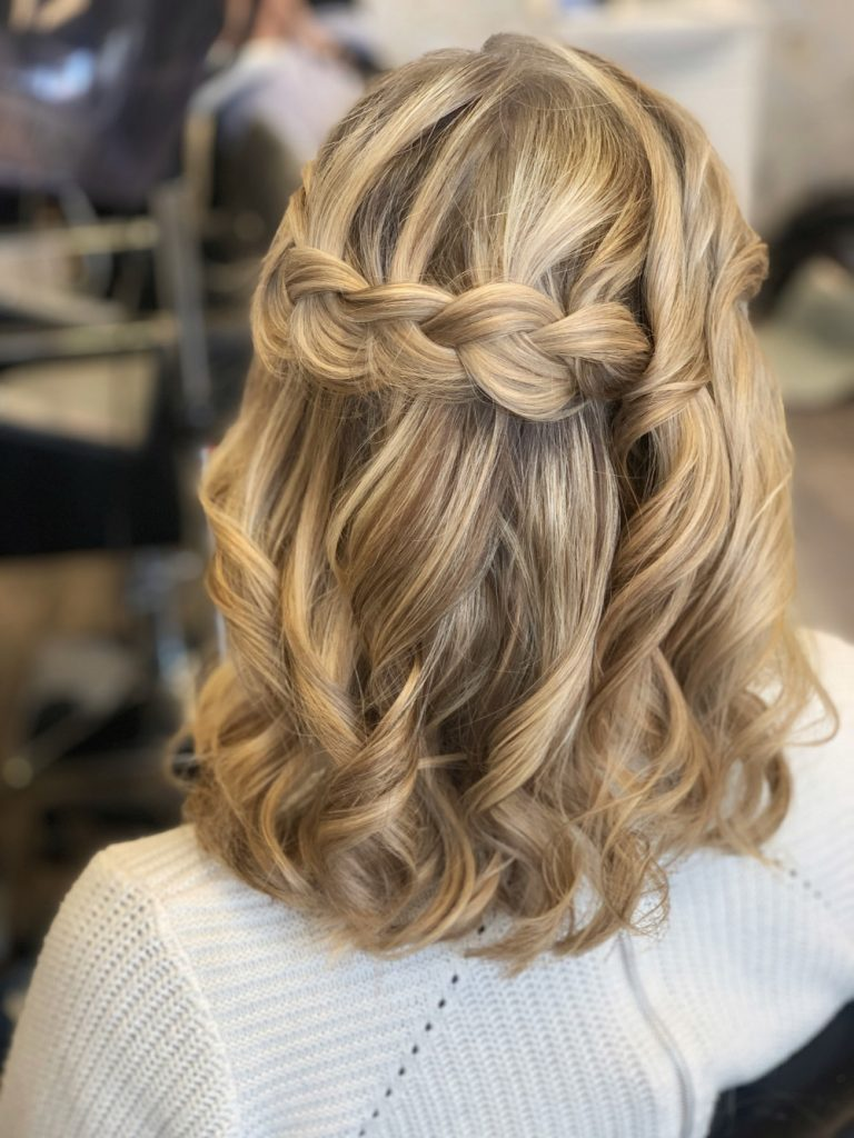 Midlength Half Up Half Down Wedding Hairstyle