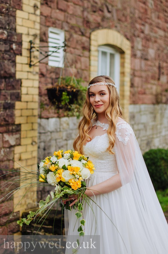 bride with long loose waves