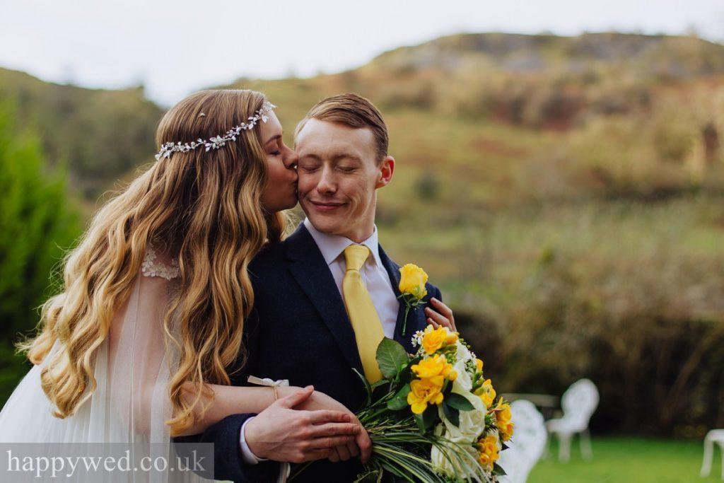 welsh castle wedding bride and groom