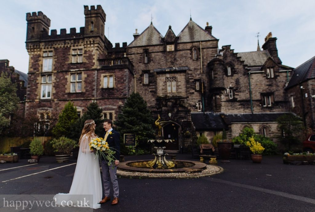 boho luxe wedding at Craig Y Nos Castle