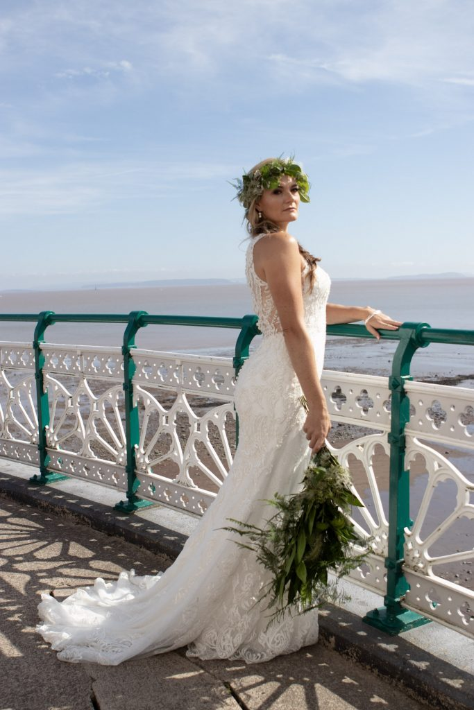 bride at penarth pier