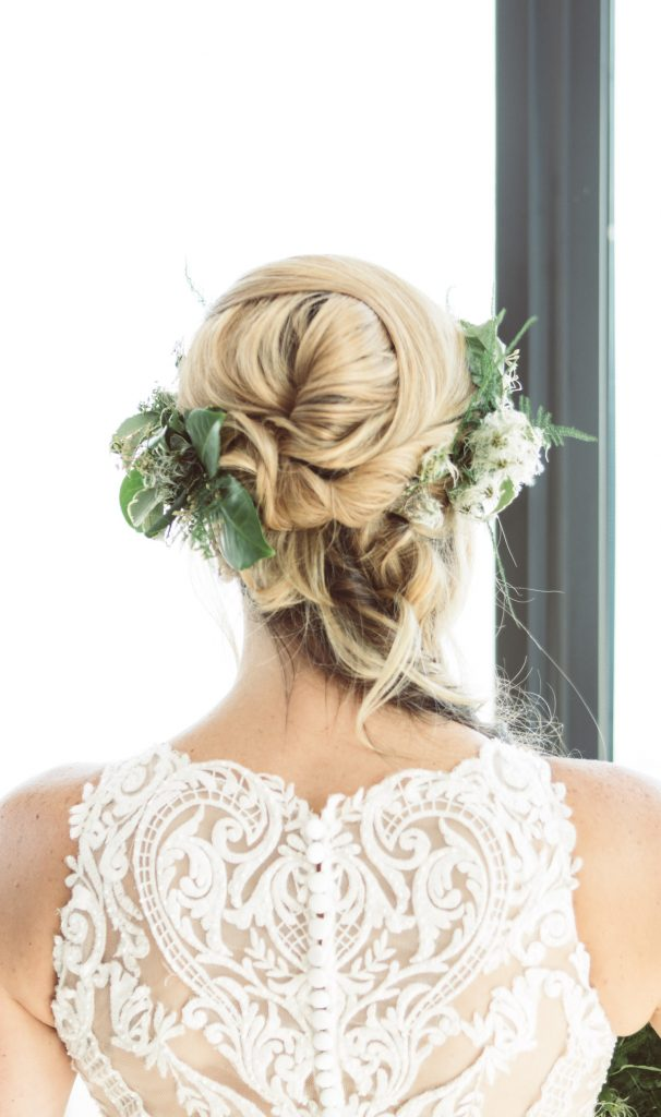 twisted crown boho bridal hair