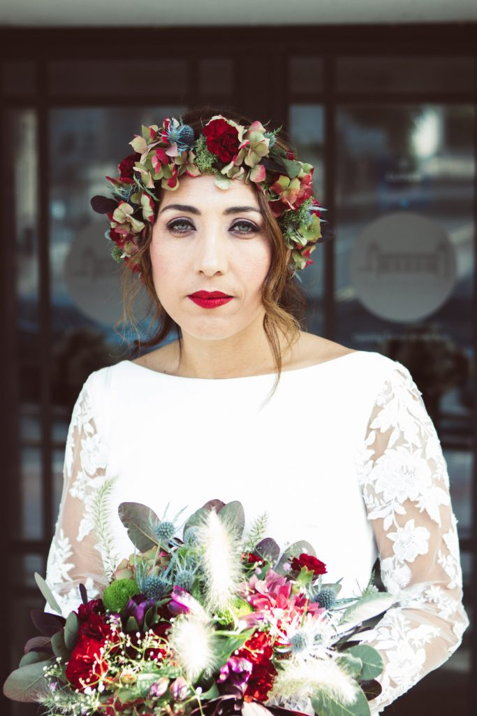 fall bridal florals