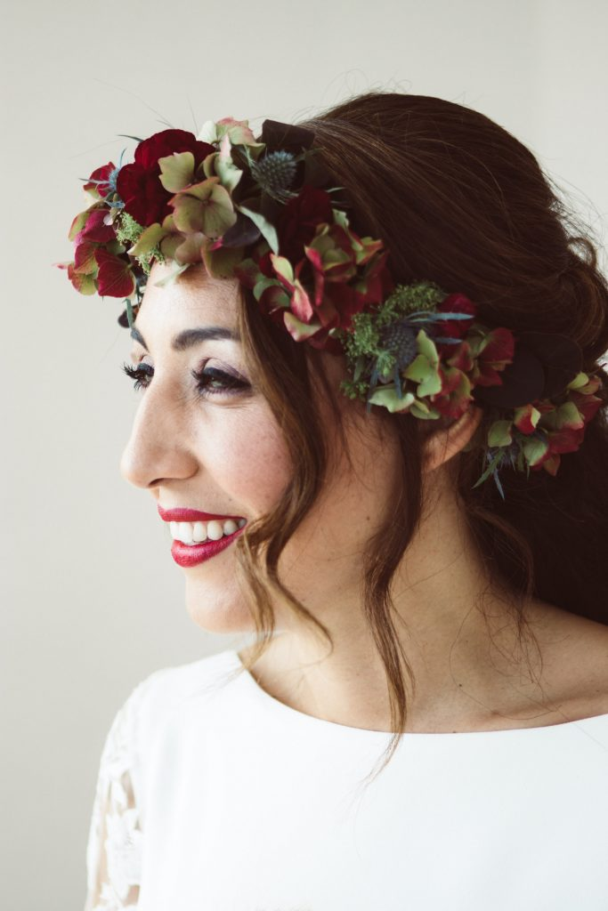 floral crown for autumn fall bride