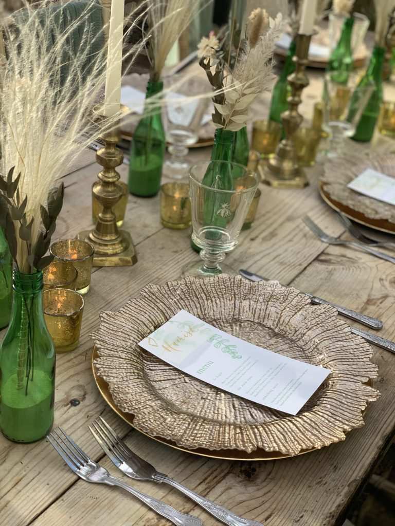 modern boho wedding table