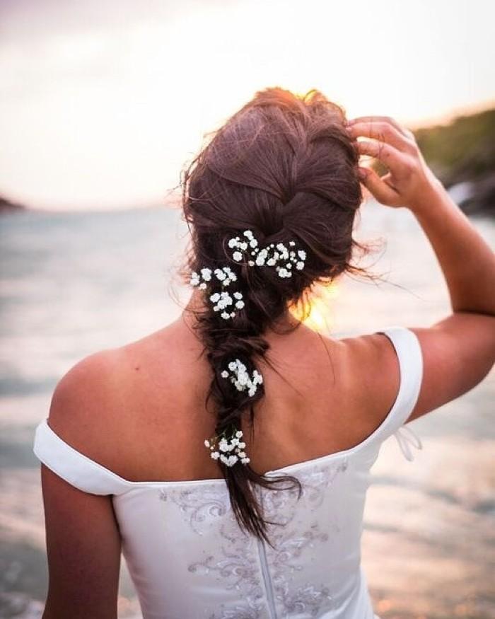 simple wedding hairstyle classic braid