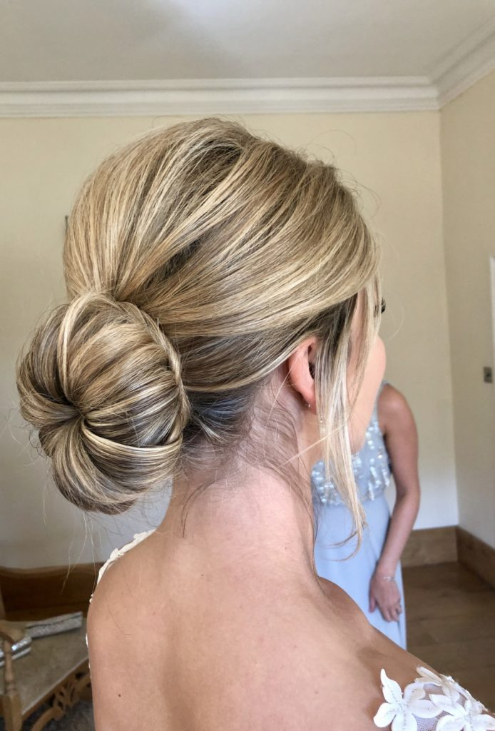 simple wedding hairstyle ballerina bun