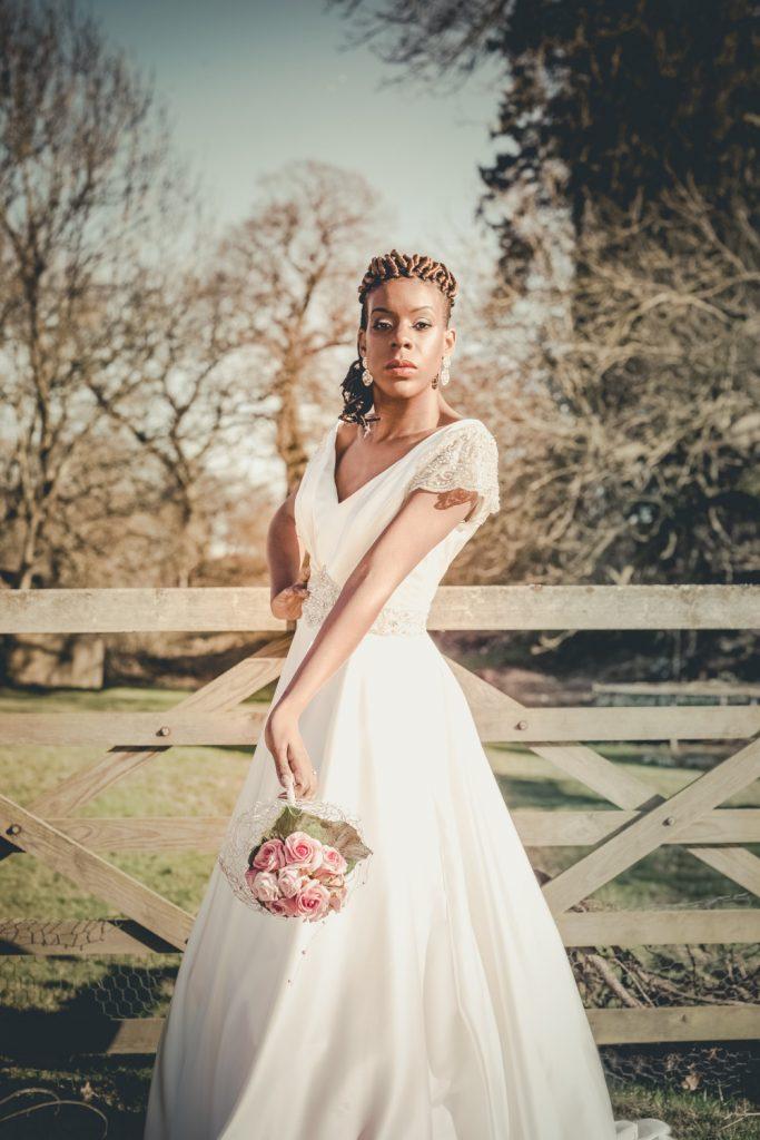 short bridal hairstyle twist updo