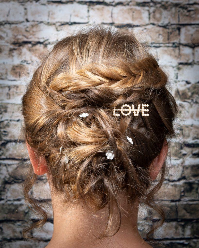 short bridal hairstyle updo