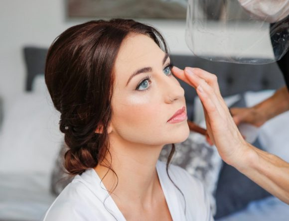 Wedding Makeup for Blue-Eyed Brides