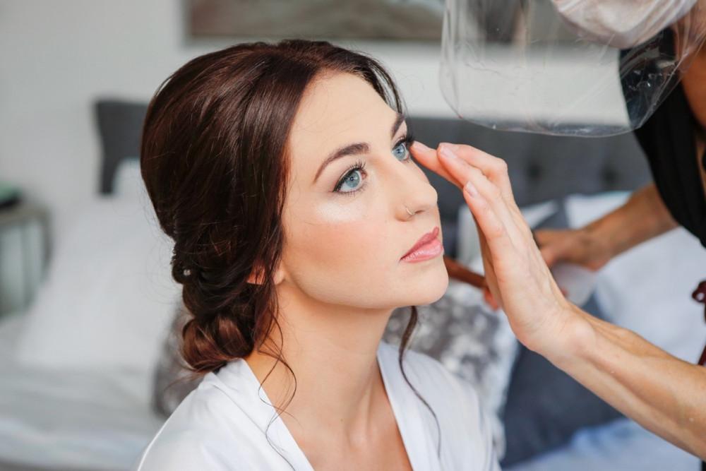 Wedding Makeup for Blue-Eyed Brides