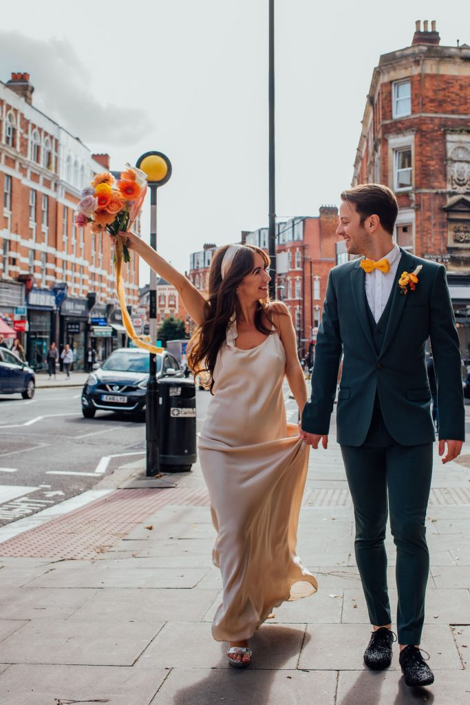 1970s inspired bridal style London