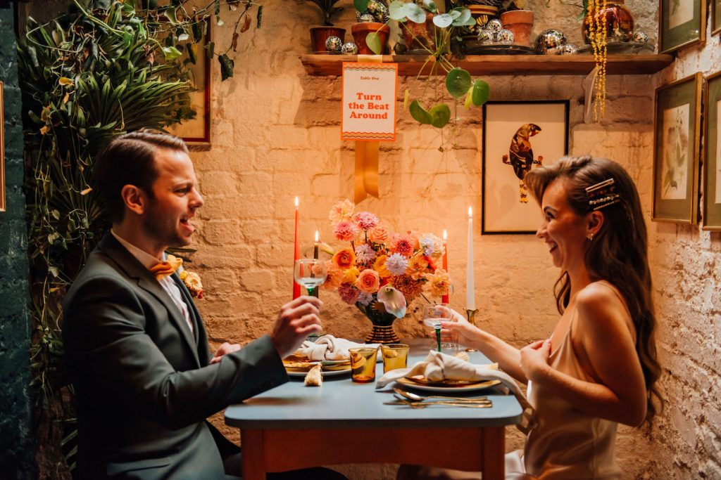 intimate dinner alternative wedding