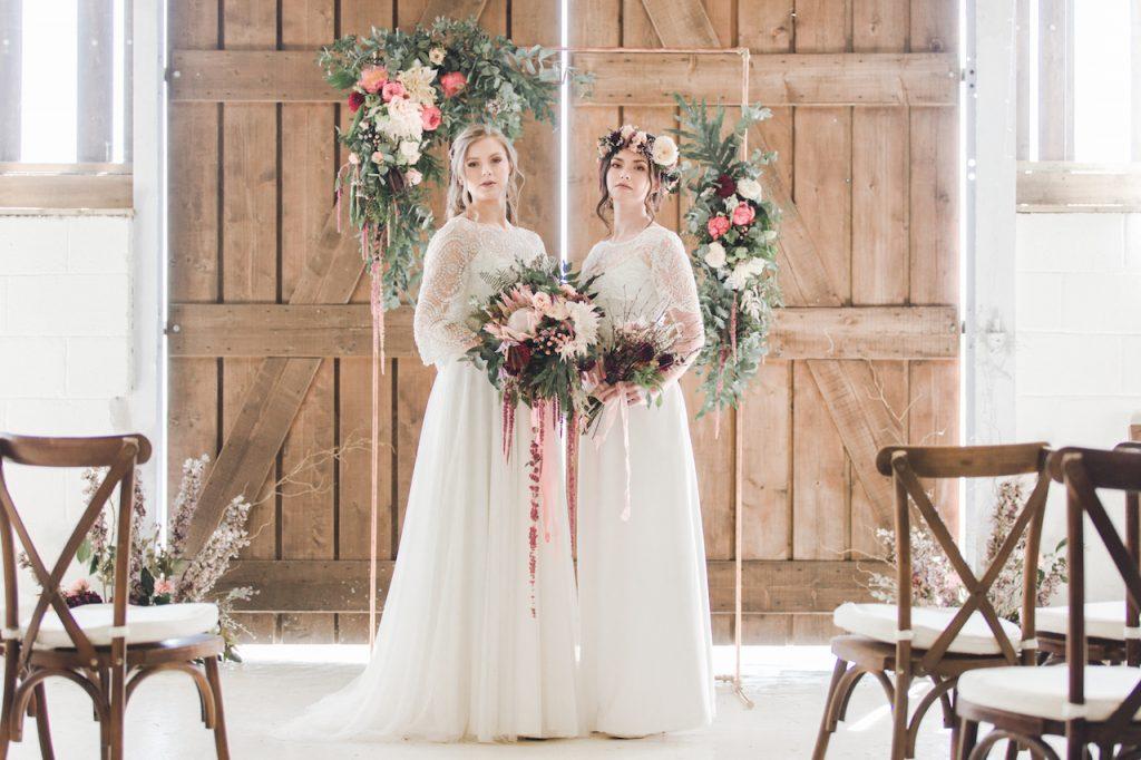 bohemian barn wedding styled shoot in wales