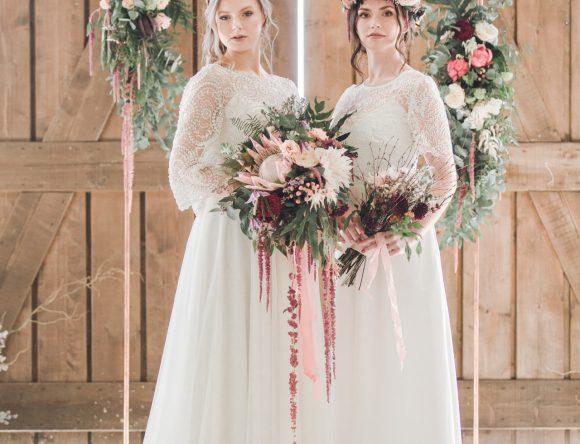 A Bohemian Barn Styled Wedding Shoot in Wales