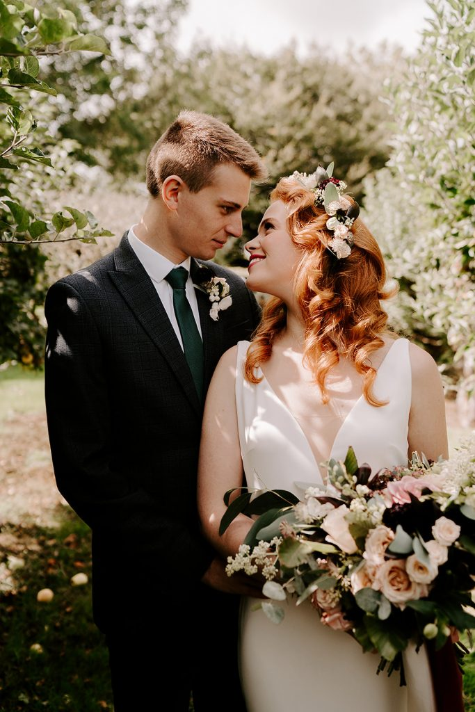 English countryside styled shoot bride and groom