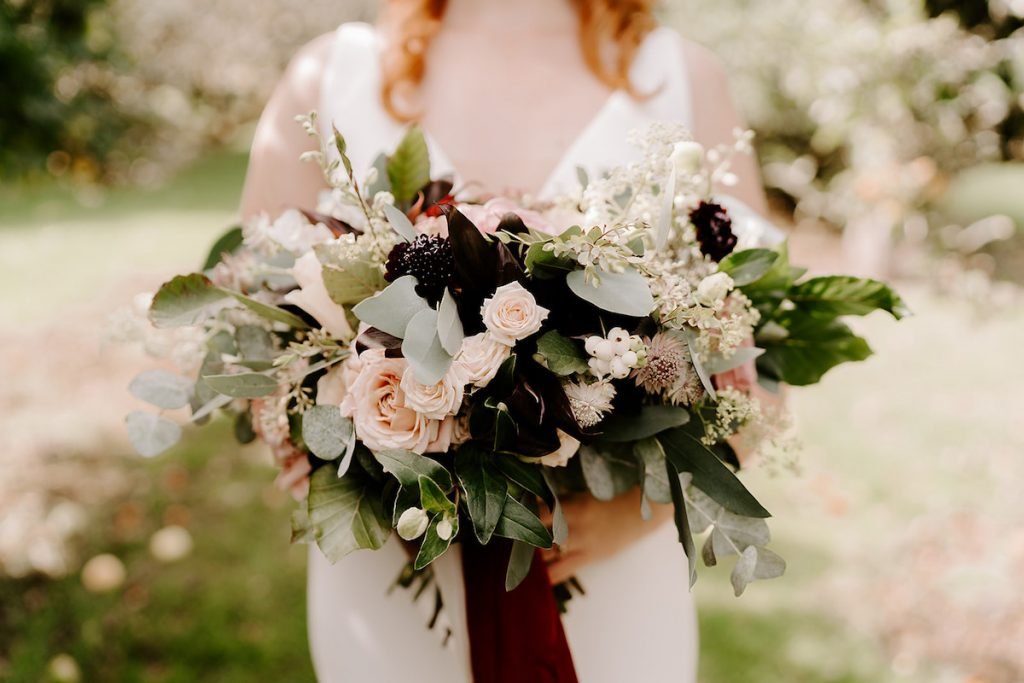 unstructured English orchard bouquet