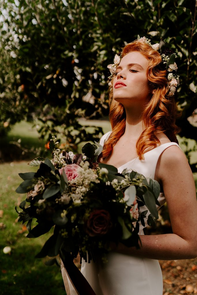natural makeup for English rose bride
