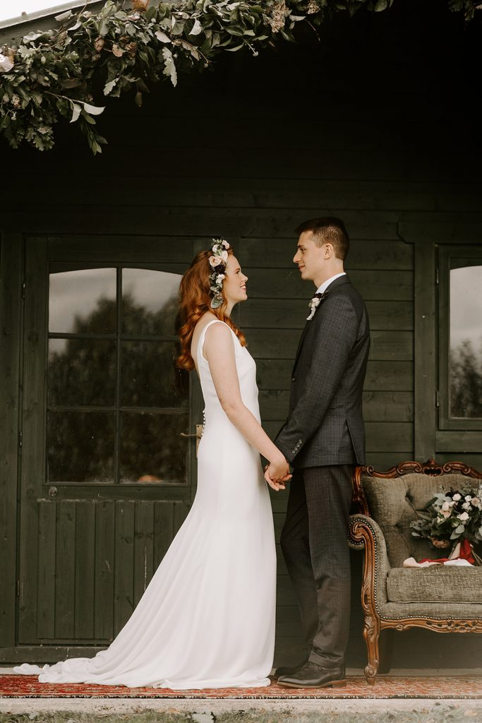 Knighton House bride and groom