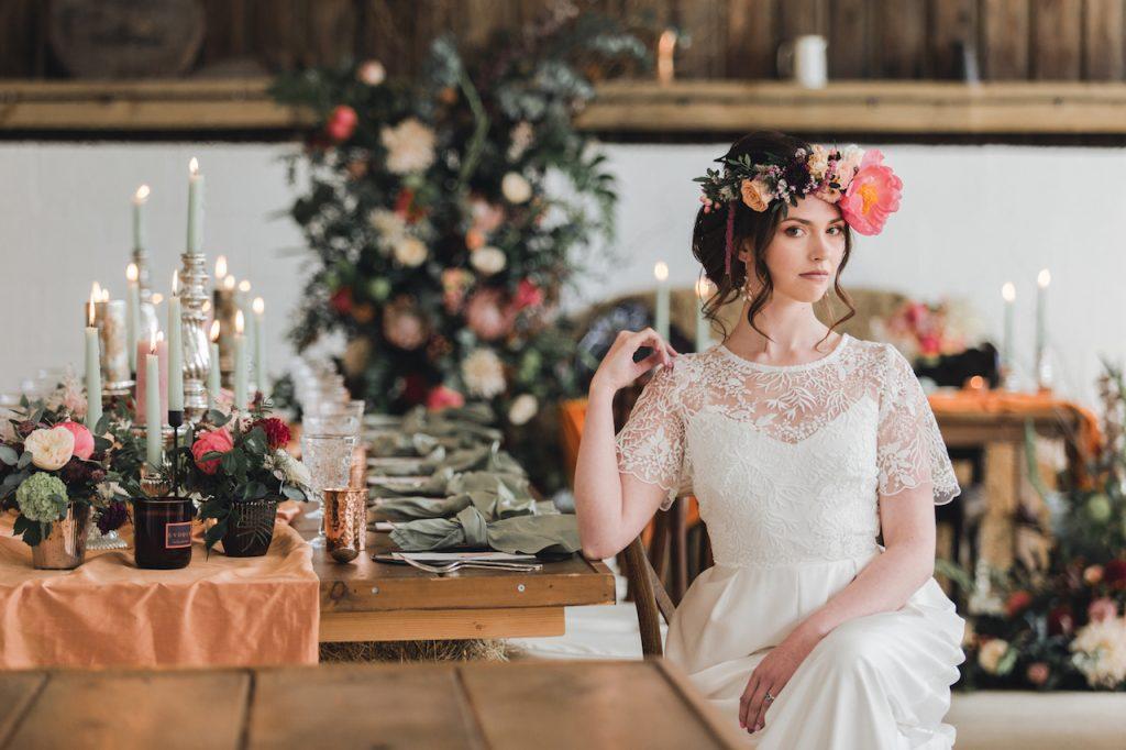 sugar loaf barn wedding venue styled shoot