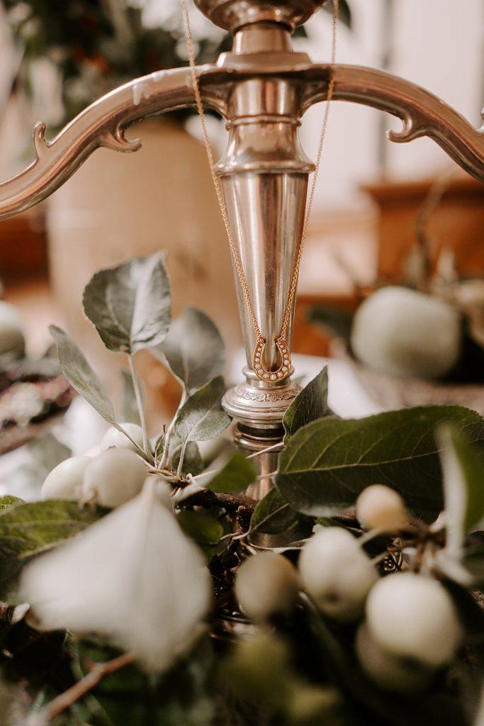 vintage silver candelabra English country wedding inspiration