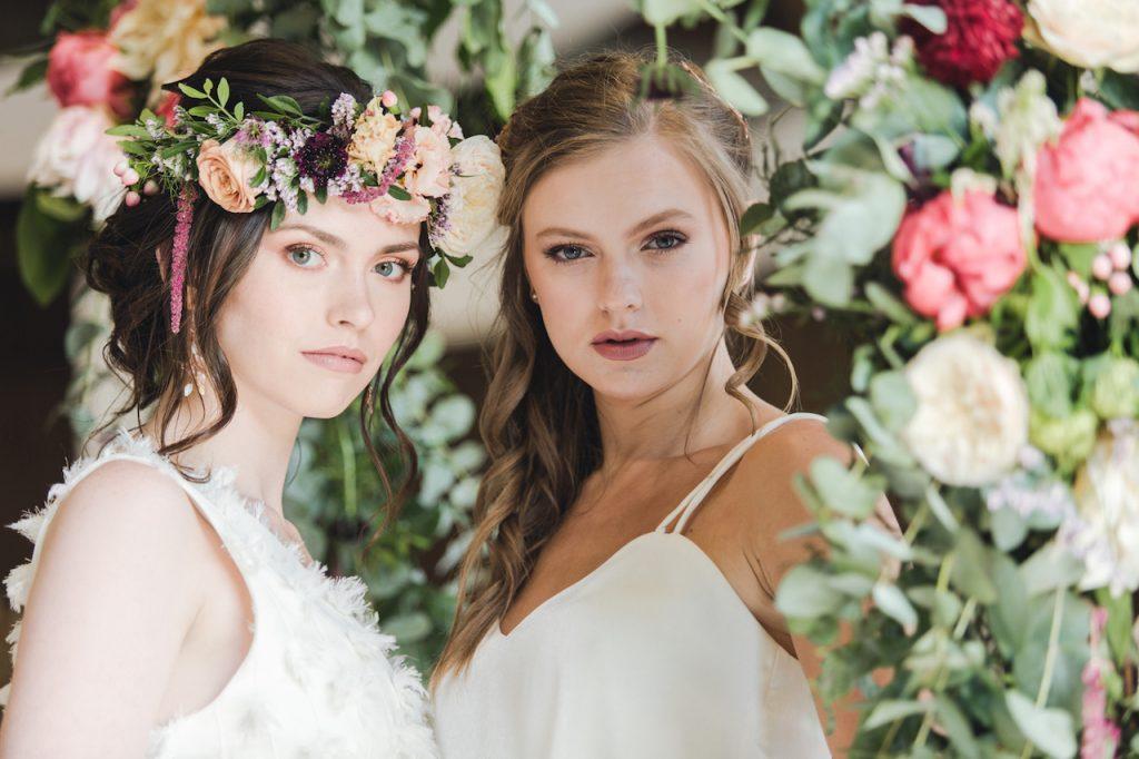 romantic bohemian bridal hairstyles for bohemian barn wedding