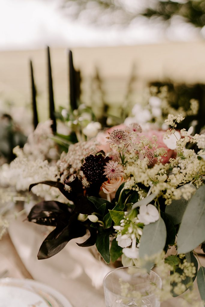wild florals English country wedding inspiration